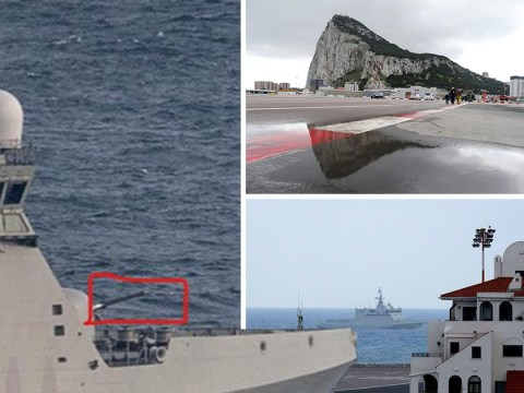 Spanish warships ordered British boats out of Gibraltar's waters