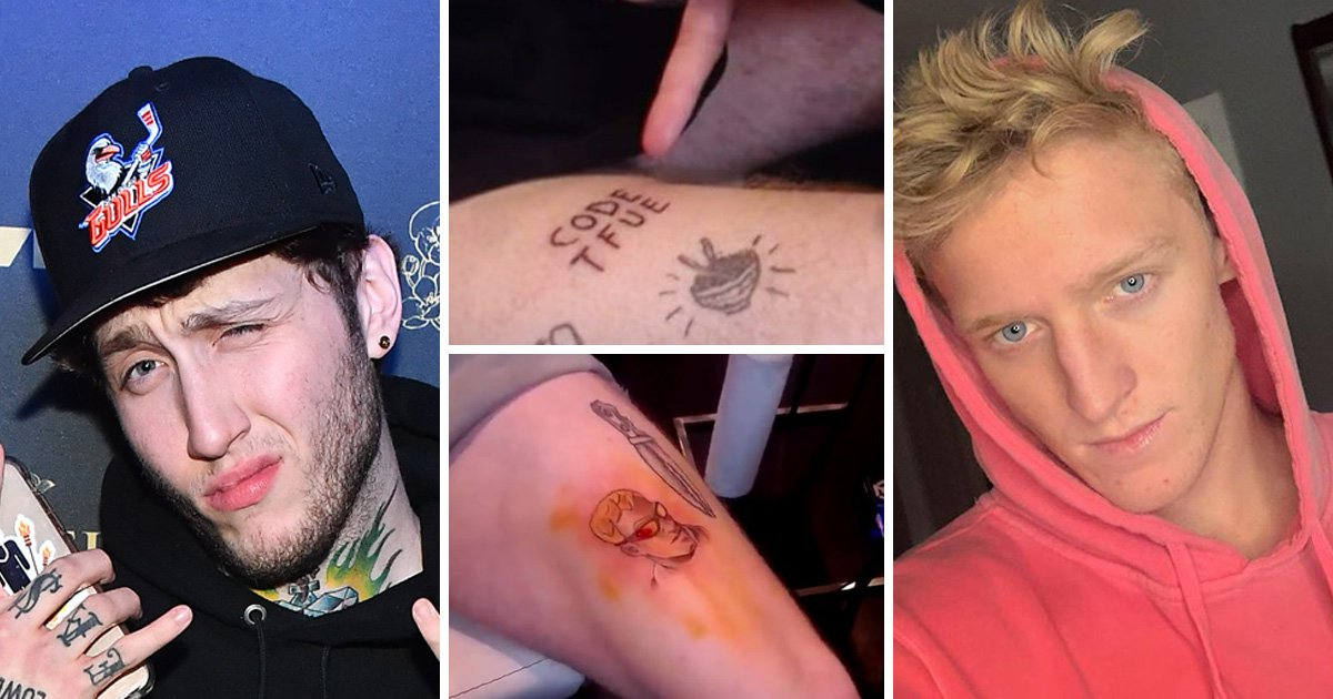 YouTube and Twitch stars FaZe Banks and Tfue get Fortnite tattoos while livestreaming