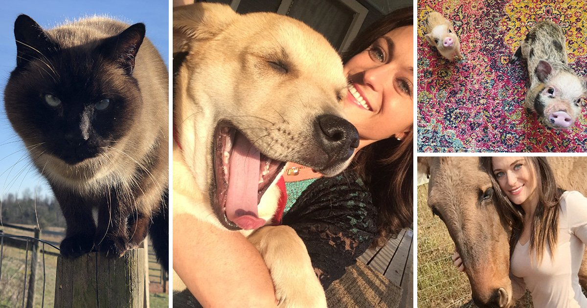 An animal lover shares her home WITH 90 PETS named after Lord Of The Rings characters