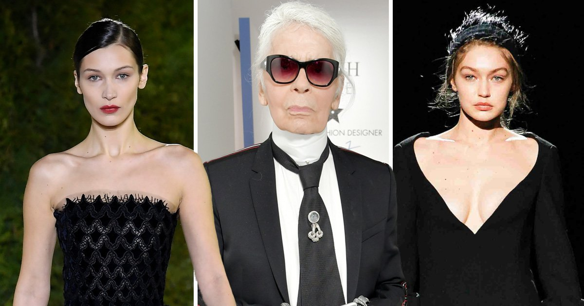 Gigi Hadid and Donatella Versace lead celebrities paying tribute to Karl Lagerfeld as fashion designer dies at 85
