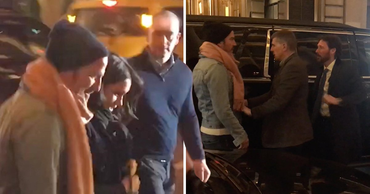 Meghan Markle's close friend pushed out of her way as she heads into exclusive restaurant