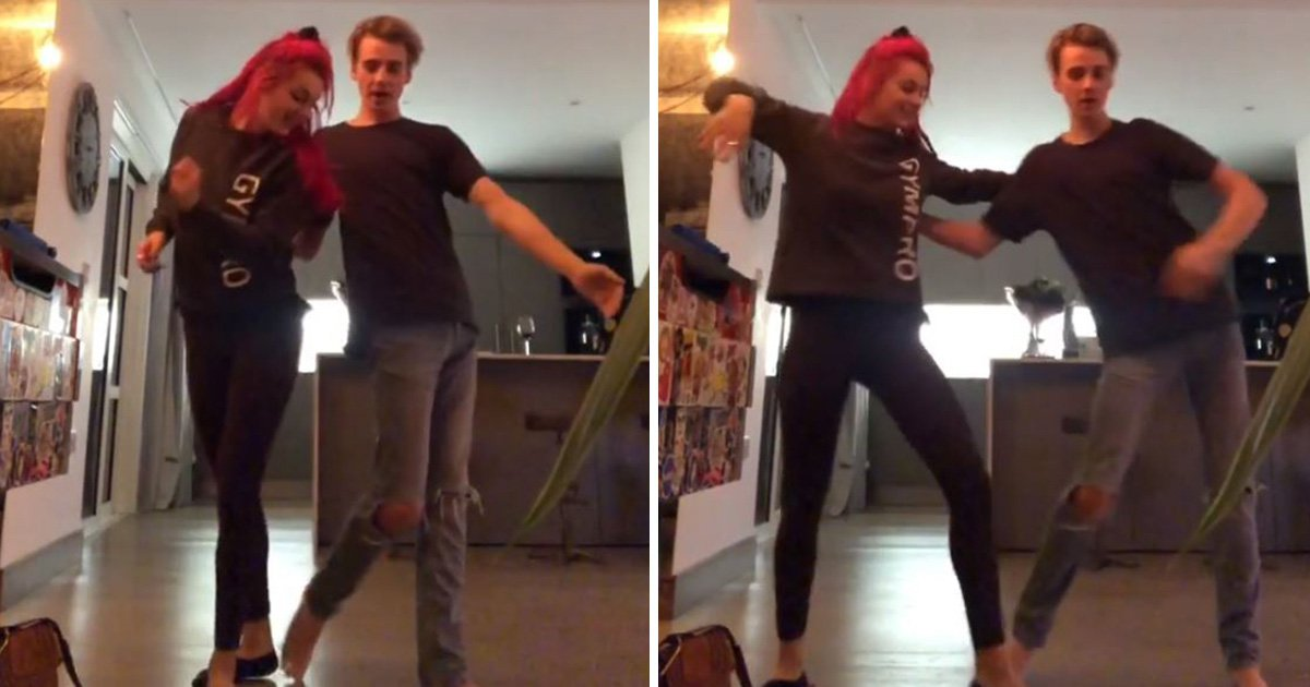 Strictly's Joe Sugg and Dianne Buswell practice rumba at home to A Star Is Born soundtrack