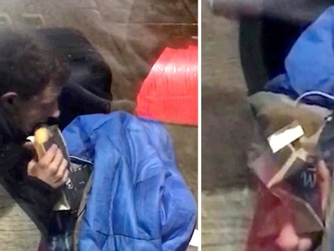 Student accuses beggar of faking it because he had two tablets and a phone