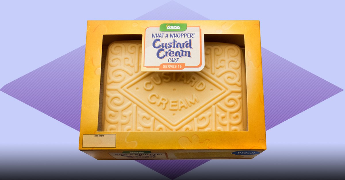 Attention, please: Asda is now selling a giant Custard Cream cake