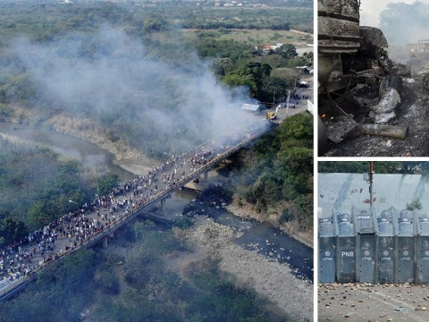 Protesters killed in Venezuela border clashes as aid delivery is blocked