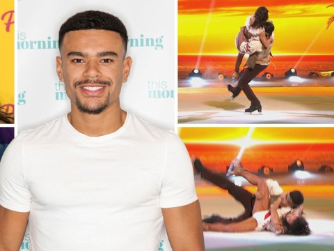 Dancing On Ice's Wes Nelson falls onto Vanessa Bauer during rehearsals forcing last-minute routine change