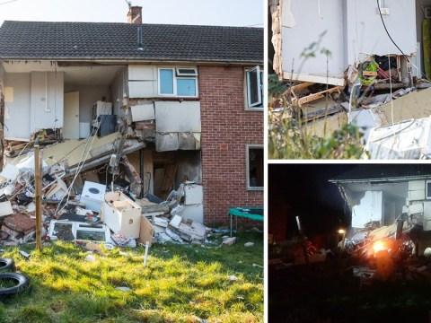Three injured as huge 'explosion' destroys flats in Bristol