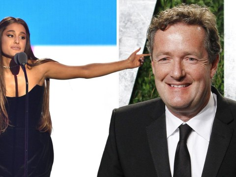 Piers Morgan details two-hour dinner with Ariana Grande over 'very expensive wine' as they debate feminism