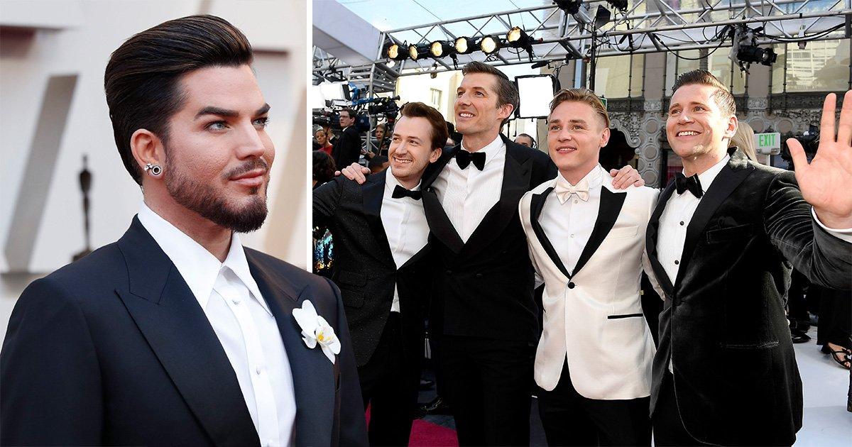 Bohemian Rhapsody cast and Adam Lambert are the cutest on Oscars red carpet