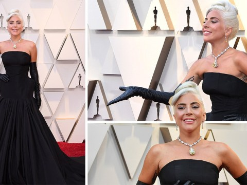 Lady Gaga goes old school Hollywood for dramatic entrance at 2019 Oscars