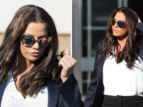 Katie Price appears solemn as she arrives at court to face drink driving charge