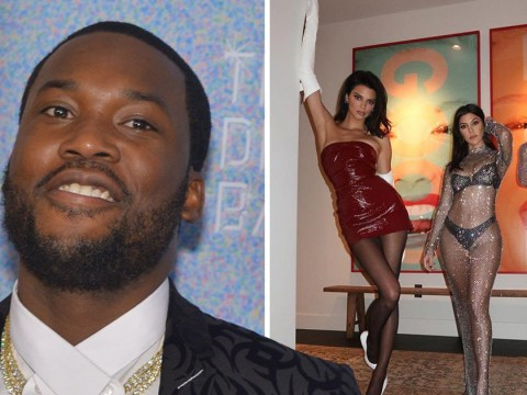 Meek Mill lusts after Kourtney Kardashian's body as she parties with single Khloe and Kendall Jenner