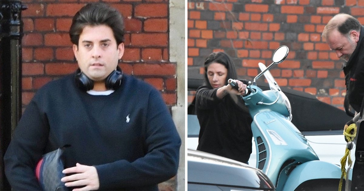 James Argent looks downcast as scooter is removed from Gemma Collins' house after split