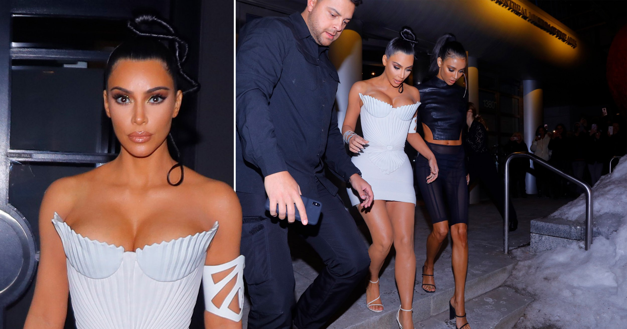 Kim Kardashian is a magical ice maiden as she wears stilettos on ice and strapless mini dress in -20 temperatures