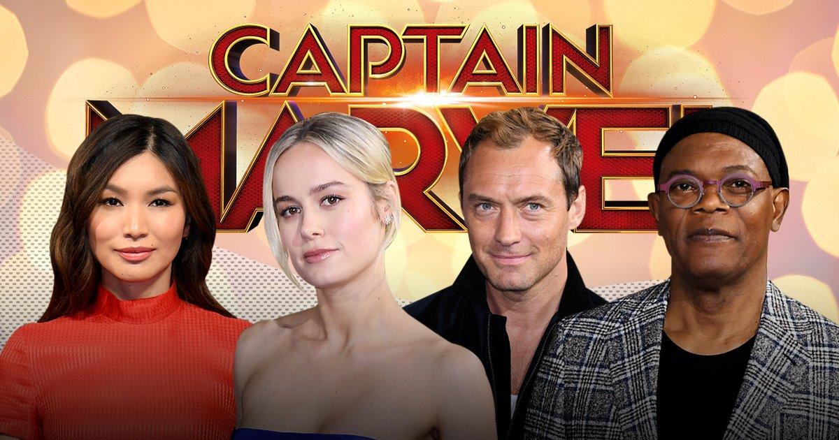 Brie Larson looks super as Captain Marvel stars shine at London premiere