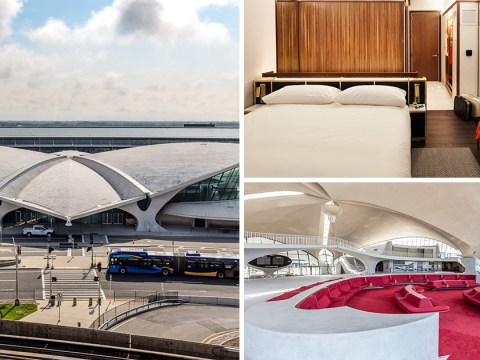 Abandoned airport terminal is transformed into new swanky 60s hotel