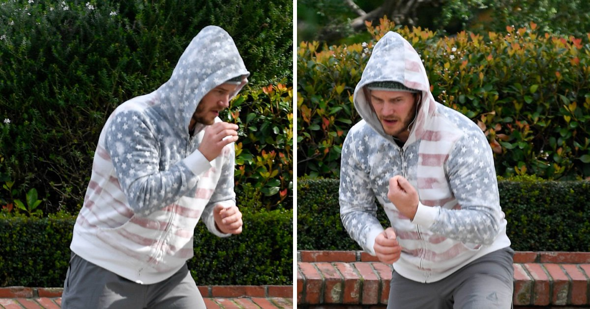 Chris Pratt punches air in interesting workout as he practises MMA moves on Hollywood footpath