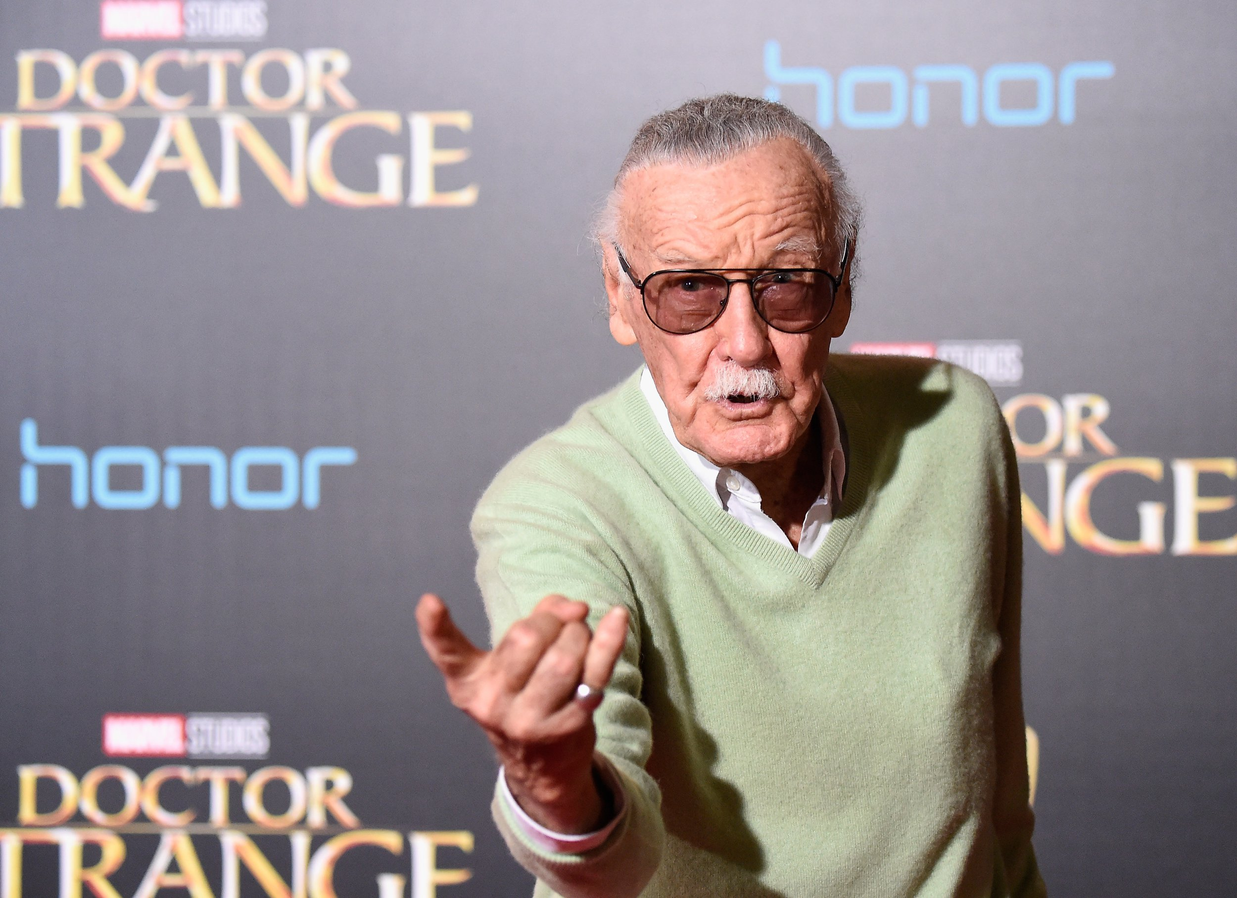 Stan Lee attends a Premiere of Disney and Marvel Studios' Doctor Strange