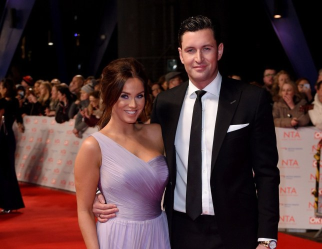 Mandatory Credit: Photo by Anthony Harvey/REX/Shutterstock (9326099ce) Vicky Pattison and John Noble National Television Awards, Arrivals, O2, London, UK - 23 Jan 2018