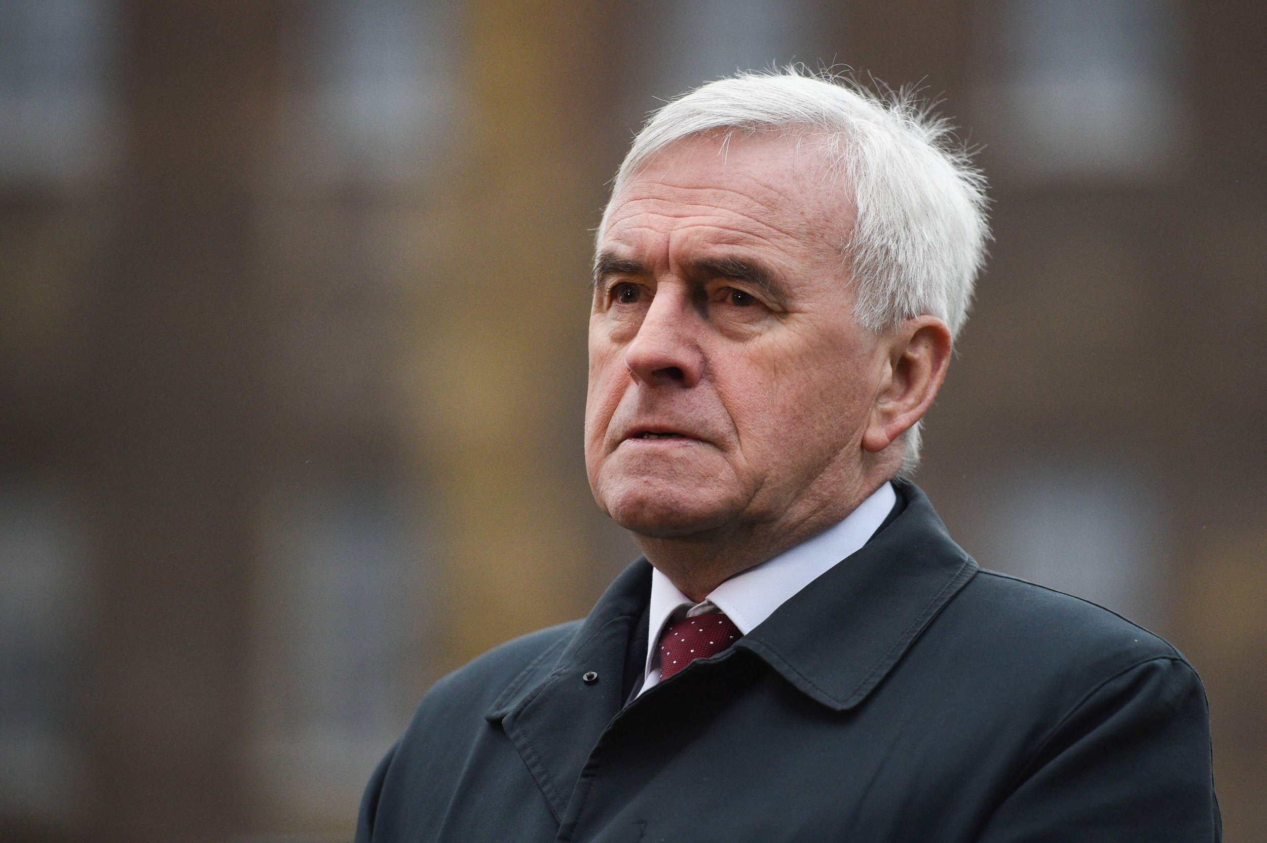 "Labour Party MP and Shadow Chancellor of the Exchequer John McDonnell speaks to the media on College Green outside the Houses of Parliament in central London on January 16, 2019. - Prime Minister Theresa May was left ""crushed"" and ""humiliated"", Britain's newspapers said today as they raked over the fallout from parliament's huge rejection of her EU divorce deal. (Photo by Oli SCARFF / AFP)OLI SCARFF/AFP/Getty Images"