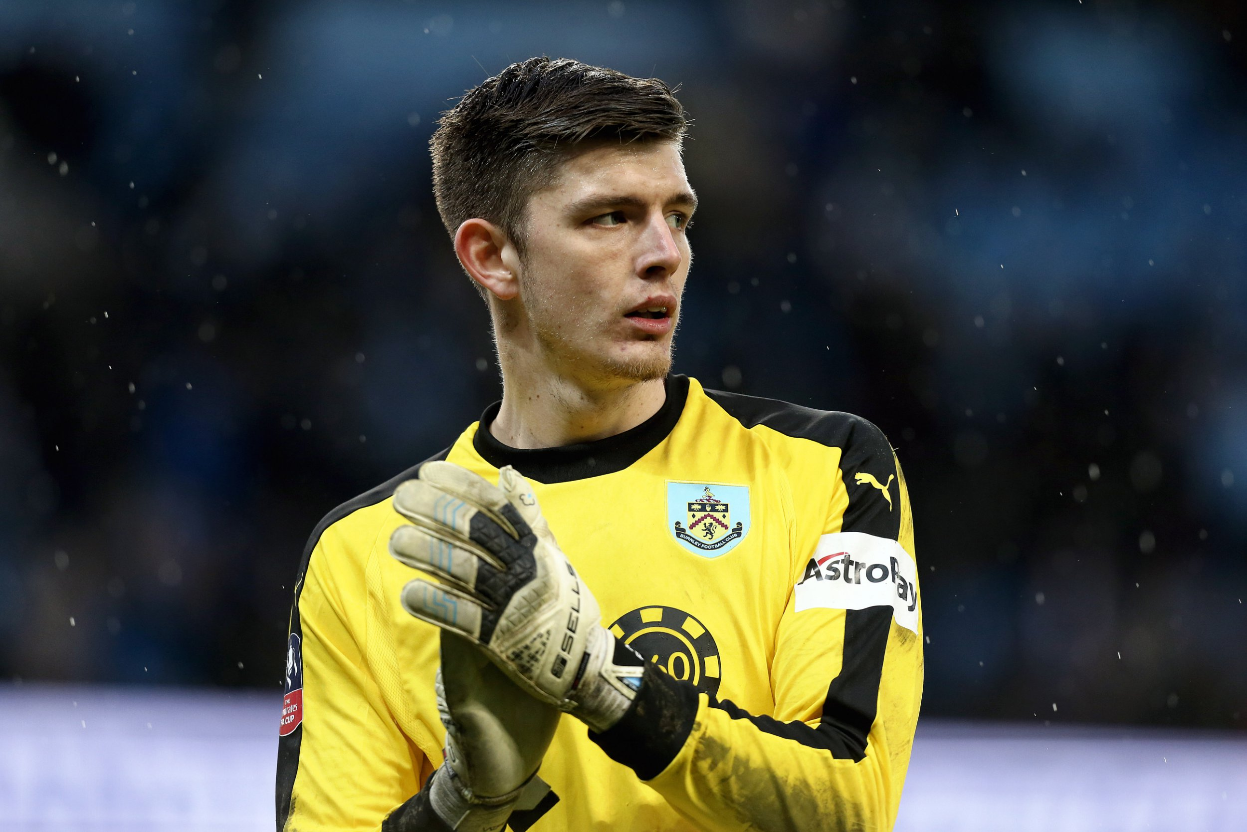 MANCHESTER, ENGLAND - JANUARY 26: Burnley's Nick Pope during the FA Cup Fourth Round match between Manchester City and Burnley at Etihad Stadium on January 26, 2019 in Manchester, United Kingdom. (Photo by Rich Linley - CameraSport via Getty Images)