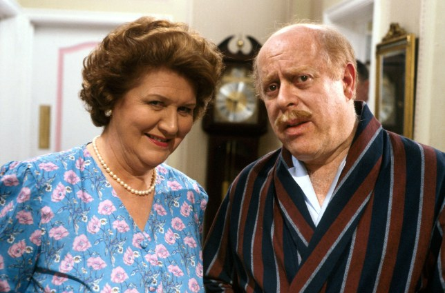 Television programme : Keeping up Appearances (Patricia Routledge as Hyacinth Bucket and Clive Swift as Richard Bucket)