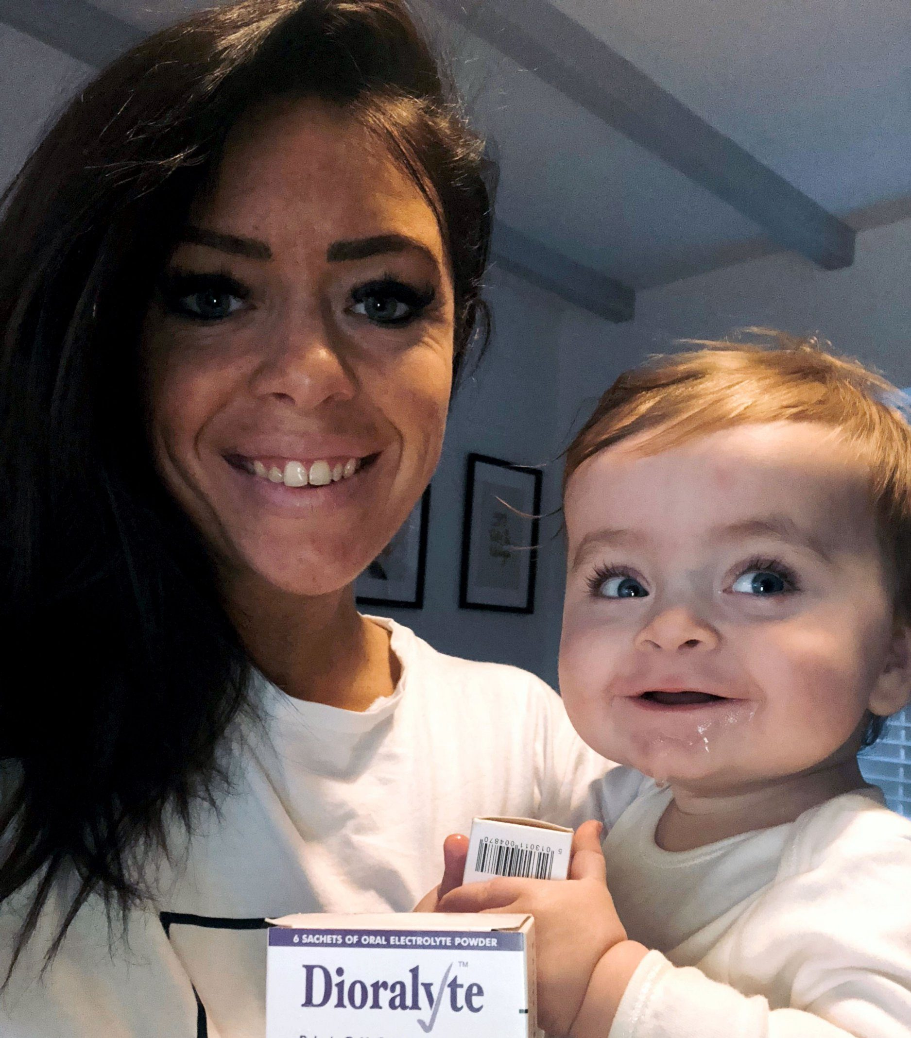 PIC FROM Caters News - (PICTURED: Vincent with mum Samantha Marwood,31) - A shocked mum has issued a warning after her tot nearly did when a simple throwing up bug caused near-fatal dehydration which a 63p remedy could have prevented.Samantha Marwood,31, was nursing nine-month-old son Vincent last Saturday (Sat 19) when the tot began to vomit every 30 minutes for more than 10 hours after picking up a stomach bug.SEE CATERS COPY