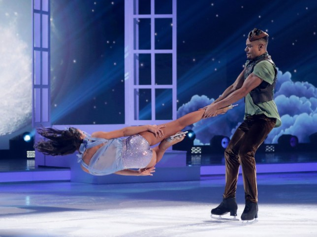 Editorial use only Mandatory Credit: Photo by Matt Frost/ITV/REX (10080492cp) Wes Nelson and Vanessa Bauer 'Dancing on Ice' TV show, Series 11, Episode 5, Hertfordshire, UK - 03 Feb 2019
