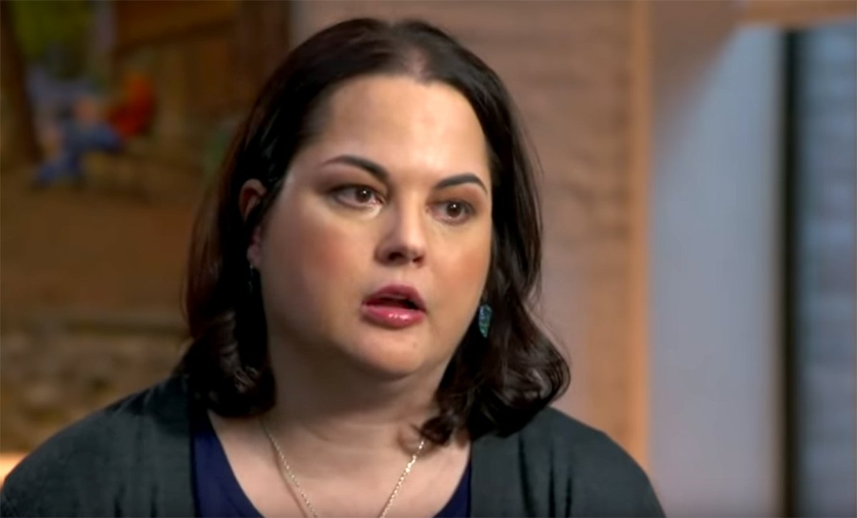Kerri Rawson talking in the ABC documentary 'My Father BTK' (Picture: ABC)