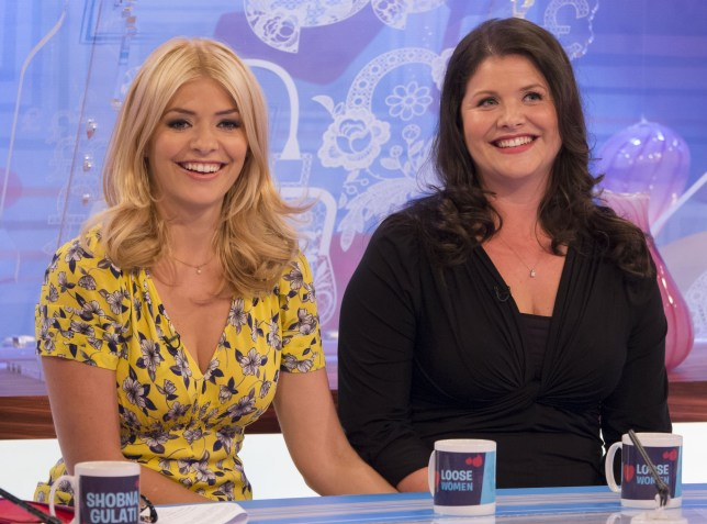 Editorial use only Mandatory Credit: Photo by Ken McKay/REX/Shutterstock (2591416o) Holly Willoughby and Kelly Willoughby 'Loose Women' TV Programme, London, Britain - 19 Jun 2013