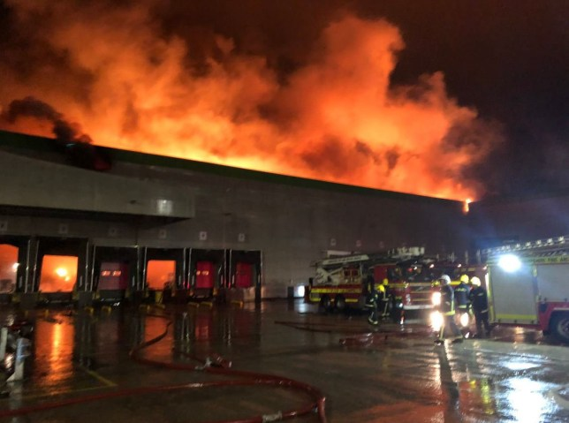 Huge Ocado warehouse fire was started by robot charger that