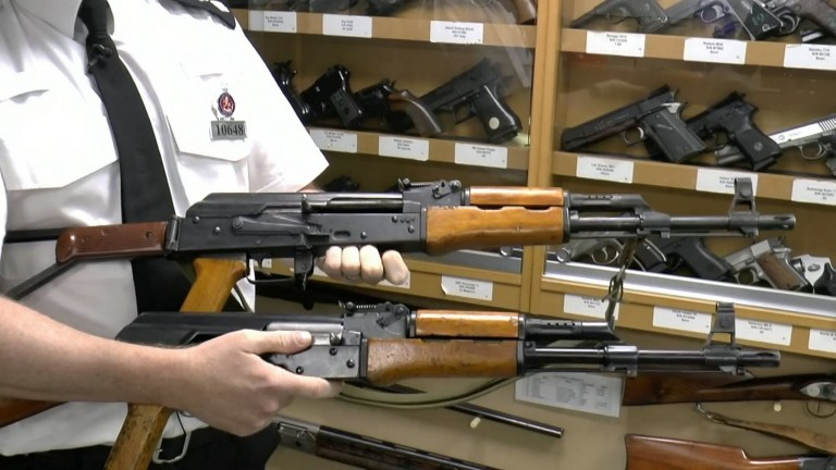 This AK-47 wasn't found in some war zone – it was handed to
