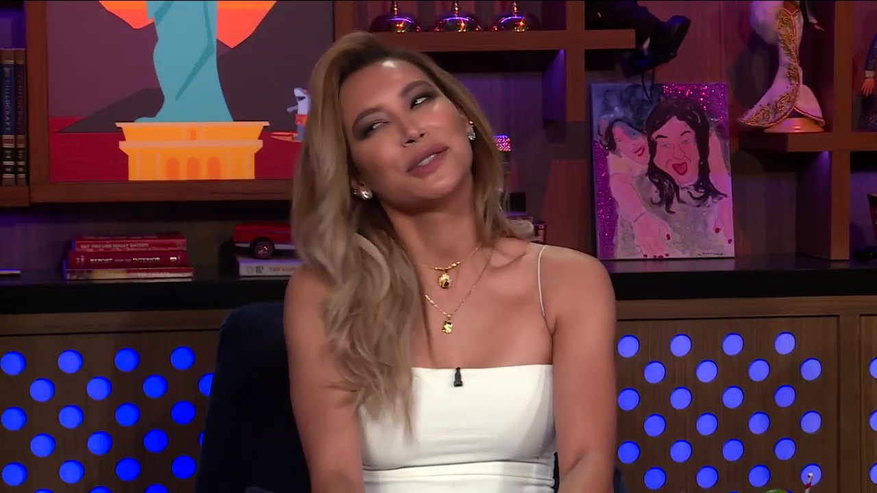 Naya Rivera Says There Was No Beef With Lea Michele Actress Naya Rivera names the worst song performed on ?Glee? and talks about liking actress Lea Michele?s instagram post of her engagement ring and shoots down the fact that the two had any beef.