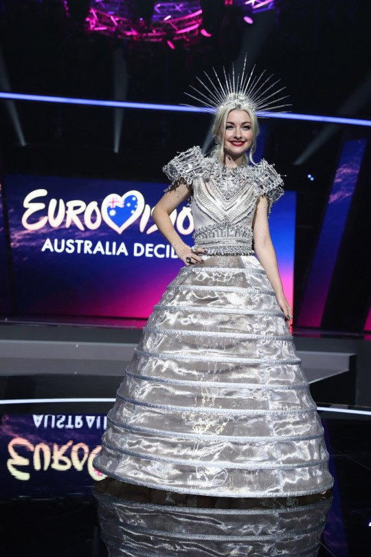 GOLD COAST, AUSTRALIA - FEBRUARY 08: Kate Miller-Heidke poses during a media call for Eurovision - Australia Decides at Gold Coast Convention and Exhibition Centre on February 08, 2019 in Gold Coast, Australia. (Photo by Chris Hyde/Getty Images)