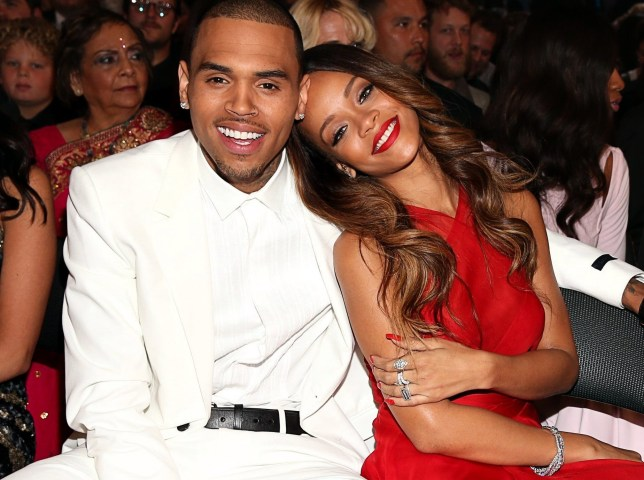 Chris Brown and Rihanna at GRAMMY Awards