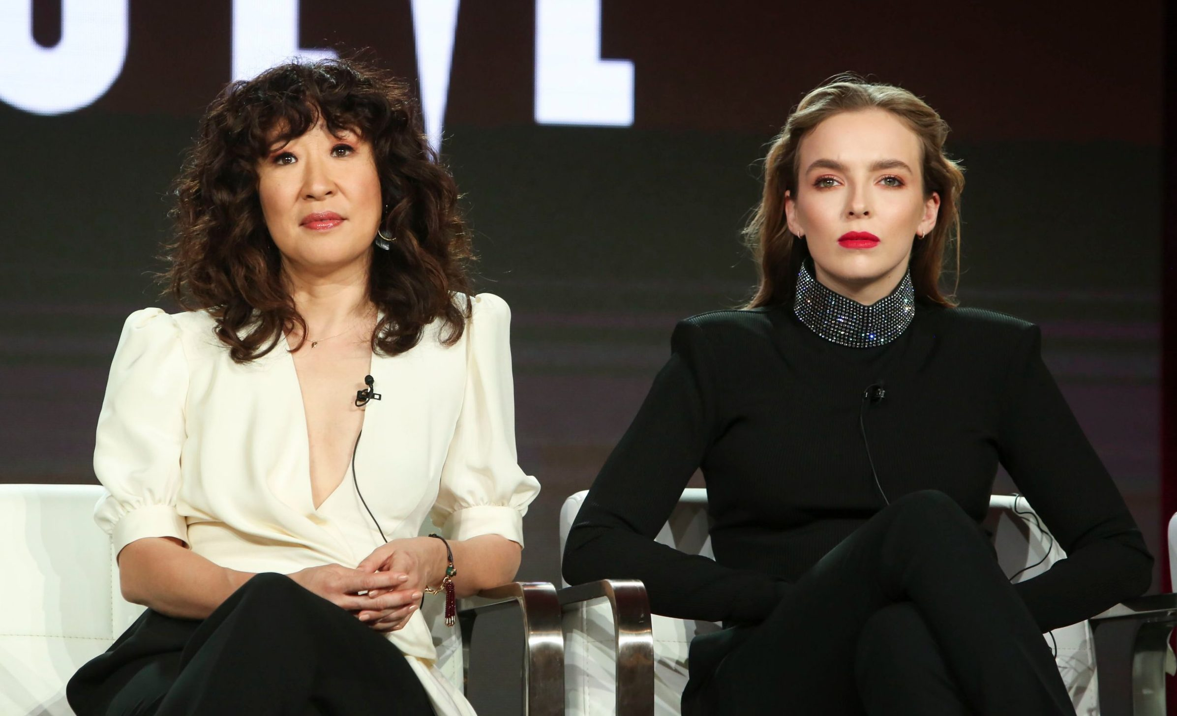 Mandatory Credit: Photo by David Buchan/Variety/REX (10099846d) Sandra Oh and Jodie Comer AMC - BBC America 'Killing Eve' TV Show Panel, TCA Winter Press Tour, Los Angeles, USA - 09 Feb 2019