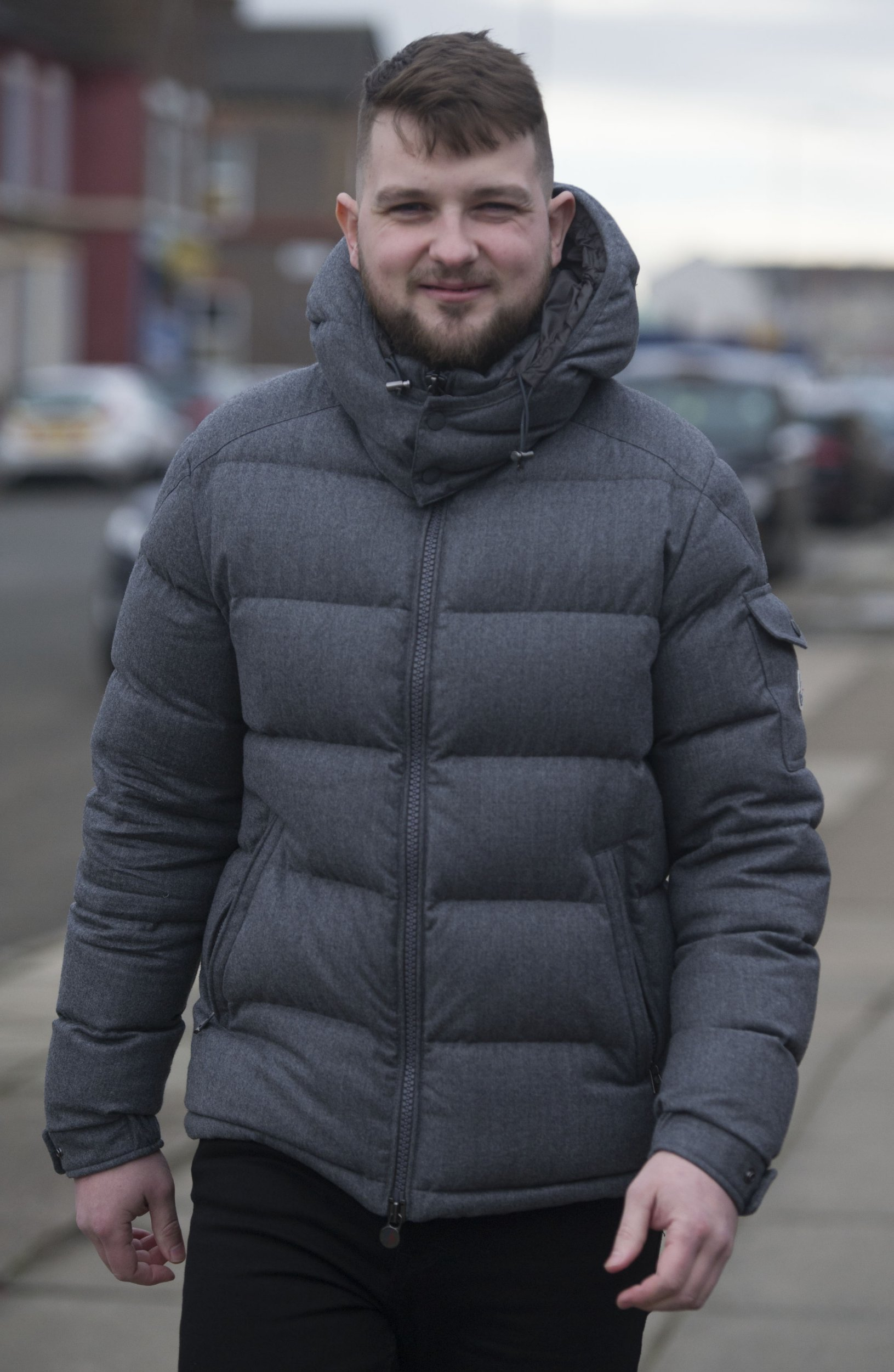 """A young dad turned yellow and swollen like Homer Simpson after he binged 20 cans of lager and a litre of vodka a day for 12 months. Mitchell Balzan was just 13 when he started drinking but by 21 he was an alcoholic and at 24 was bed ridden, drinking himself into a stupor ever day for a year. He would steal from friends and family to feed his addiction and emotionally manipulated his loved ones to try and get more booze. In his early 20s Mitchell, from Toxteth, Merseyside, would drink to """"self medicate"""" after staring to get so anxious he would have panic attacks."""