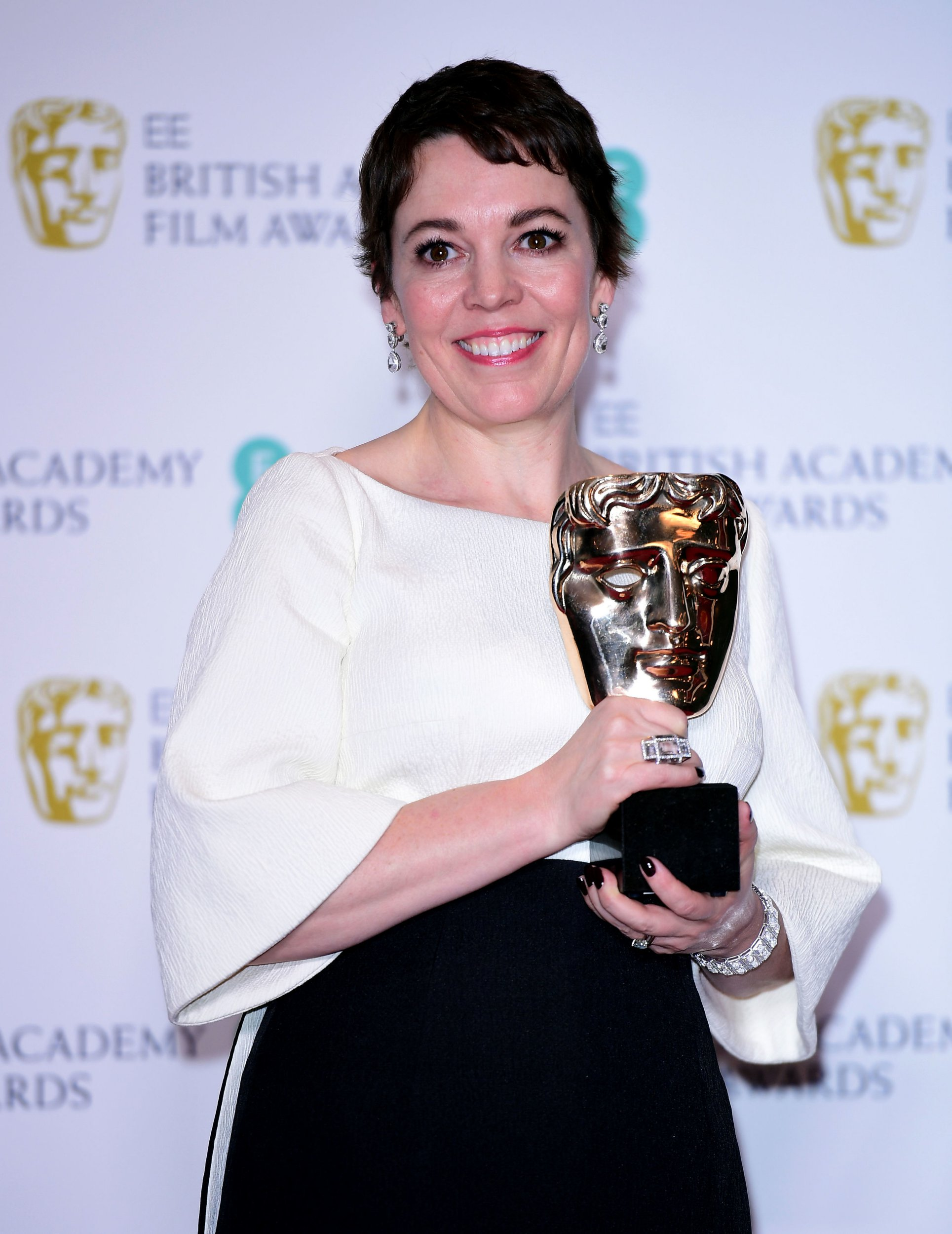 Olivia Colman with her Best Actress in a Leading Role Bafta for The Favourite in the press room at the 72nd British Academy Film Awards held at the Royal Albert Hall, Kensington Gore, Kensington, London. PRESS ASSOCIATION Photo. Picture date: Sunday February 10, 2019. See PA story SHOWBIZ Bafta. Photo credit should read: Ian West/PA Wire