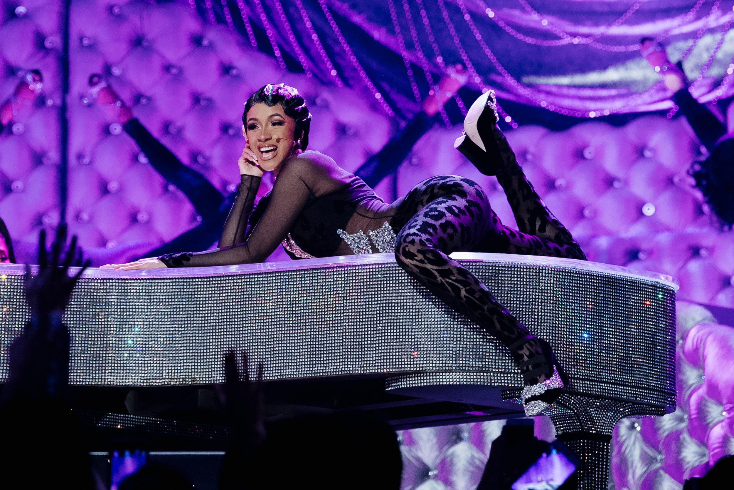 LOS ANGELES, CALIFORNIA - FEBRUARY 10: Cardi B performs onstage at the 61st annual GRAMMY Awards at Staples Center on February 10, 2019 in Los Angeles, California. (Photo by Emma McIntyre/Getty Images for The Recording Academy)