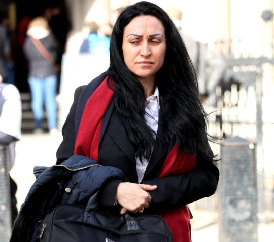 Champion News: 07948286566/07914583378 news@championnews.co.uk Picture shows Manuela Radeva, 37, outside London's High Court. / re: Marcel Kooter 'blinded by attraction' when he met Manuela Radeva on Tinder - Oil industry consultant, 57, lavished her with designer gifts, hotel stays and trips - He claims Ms Radeva lied about being a financier and had married weeks earlier - She said Kooter gave her money to support their 'expensive, luxurious lifestyle' Judge has ordered Ms Radeva to pay back more than ?182k and ?20k legal costs