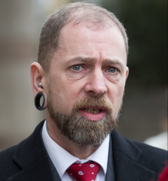 Brendan McCarthy, 50, from Bushbury, Wolverhampton, who ran Dr Evil's Body Modification Emporium in Wolverhampton, leaves Wolverhampton Crown Court where he admitted causing grievous bodily harm to three customers by carrying out a tongue-splitting procedure and removing an ear and a nipple. PRESS ASSOCIATION Photo. Picture date: Tuesday February 12, 2019. McCarthy, changed his pleas to guilty on Tuesday after a two-year legal saga in which he unsuccessfully claimed the consent of his customers provided him with a lawful defence. See PA story COURTS Tattooist. Photo credit should read: Aaron Chown/PA Wire