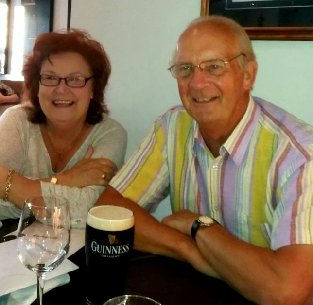 Ken Myers, with his wife Val. A devoted husband is celebrating St Valentine's Day by sending his beloved wife the same card he has posted to her - for the last 40 YEARS. See SWNS story SWLEcard. Ken Myers, a self-confessed romantic, began his unique way of saying 'I love you' back in 1979, six years after he married his sweetheart, Valerie. The 78-year-old novelist writes a new message inside the card every year - which is now full of little love notes from the past four decades. And Ken, of Leeds, West Yorks., even created the romantic card himself ? he used to work as a card designer back in the 1970s.
