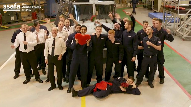 Armed Forces send a surprise message back to loved ones in Valentine?s video. ?You?re amazing?: Armed Forces send a surprise message back to loved ones in Valentine?s video The Armed Forces charity SSAFA has teamed up with the Royal Navy and the Royal Air Force to arrange a special rendition of Bruno Mars? hit song ?Just the Way You Are? in the lead up to Valentine?s Day.