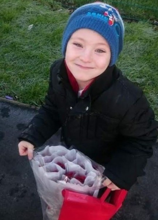 A schoolboy has selflessly spent his own money to make sure none of the girls in his class go without on Valentine?s Day. For the past few years, Callum Drew, who attends Lacey Gardens School in Louth, has worked at his Grandma?s flower shop to earn money to pay for flowers so that all 68 girls in his school year have something to open on February 14. Caption: Callum Drew is giving every girl in his class a present on Valentine's Day so no one feels alone.