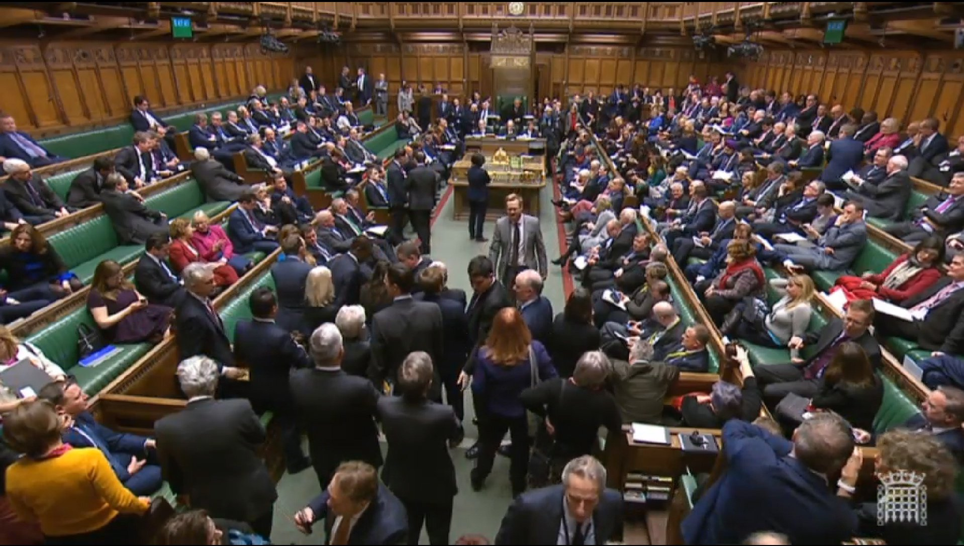epa07370156 A handout video-grabbed still image from a video made available by the UK Parliamentary Recording Unit shows MPs in the House of Commons following a vote on Prime Minister May's Brexit strategy in London, Britain, 14 February 2019. EPA/PARLIAMENTARY RECORDING UNIT HANDOUT MANDATORY CREDIT: PARLIAMENTARY RECORDING UNIT HANDOUT EDITORIAL USE ONLY/NO SALES