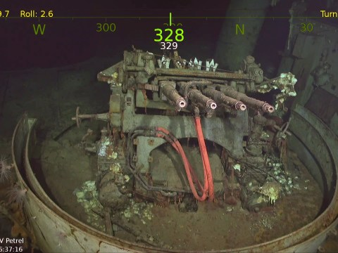 Famous WW2 aircraft carrier discovered at the bottom of the south Pacific