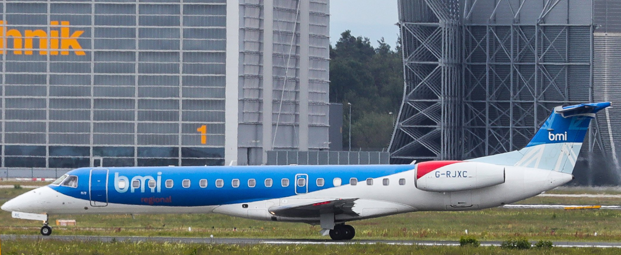 A Flybmi plane on the runway