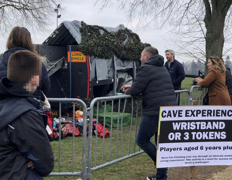 "Cave experience. Families have been left furious by a ""scam"" video game festival with ""depressing"" attractions that left kids in tears and parents demanding refunds. See SWNS story SWCAfortnite. The two-day Fornite Live event - based on the hugely popular online video game of the same name - was billed as the ""event of the year"" for fans. Organisers Exciting Events promised the ""ultimate Fortnite Battle Royale"" with ""crazy competitions, awesome activities...and much more"" this weekend. Visitors to the festival in Norwich, Norfolk were charged up to ?22 for a ticket and a further ?20 each for wristbands to take part in the attractions. But hundreds of fans are now believed to have asked for their money back after they were confronted with long queues and disappointing amusements."