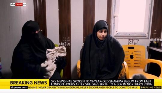 Shamima Begum Sky News interview