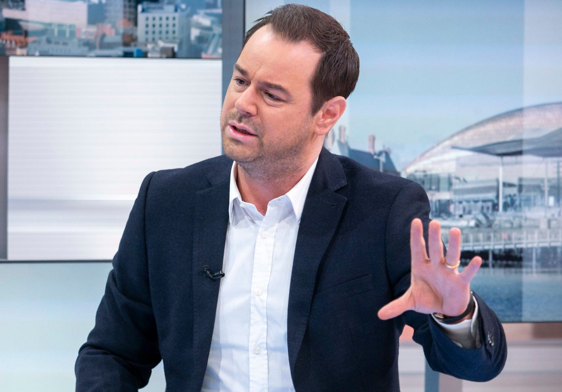 Editorial use only Mandatory Credit: Photo by S Meddle/ITV/REX (10109535ac) Danny Dyer 'Good Morning Britain' TV show, London, UK - 18 Feb 2019 GMB PRINCE'S TRUST MENTOR OF THE YEAR AWARD Viewers have just four days to vote for this year's Mentor of the Year. VT: Mentor finalists Mediawall: Danny Dyer